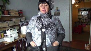 711.Пошив горжетки из искусственного меха.К берету. - Видео от Ольга Буланова