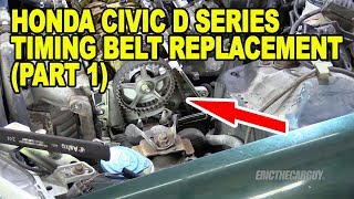 Honda Civic D Series Timing Belt Replacement (Part 1)