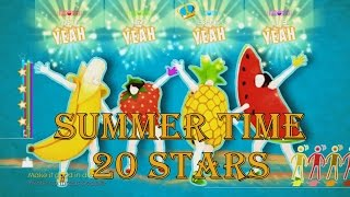 Just Dance 2014 - In The Summertime - 20 Stars Gameplay , PS4 Move.