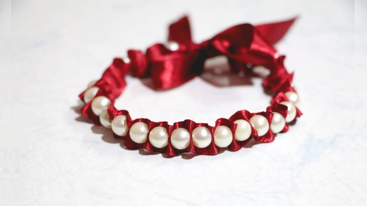 Original jewelry handmade: bracelets of ribbons 17