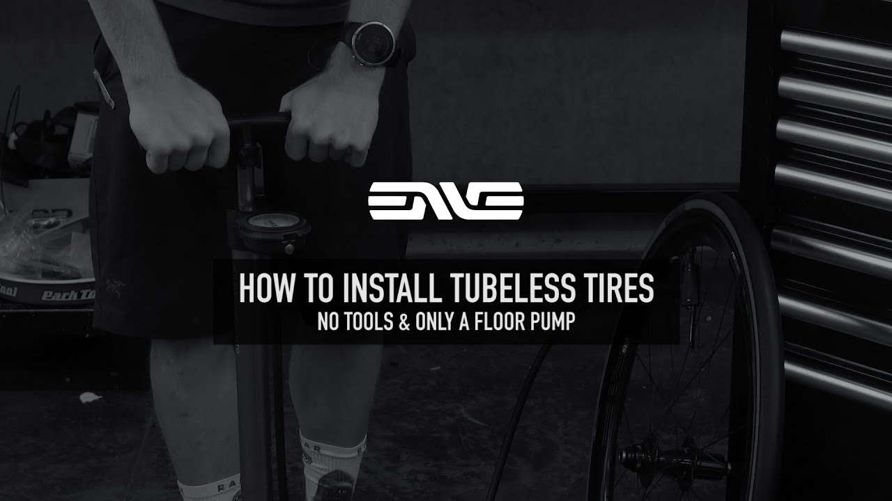 How To Install A Tubeless Road Tire onto a Carbon Rim with a Floor Pump - SES Tires