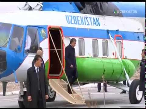 Prezident Shavkat Mirziyoyev Navoiy viloyatiga tashrif buyurdi | Axborot24 [02.03.2018]