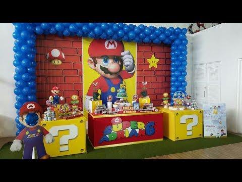 Fiesta De Mario Bros2017mesa De Dulcesdecoracionadornosideas