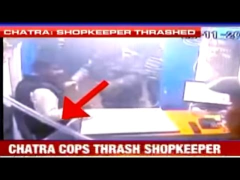 Police Officers Assaults Shopkeeper   Caught On Camera