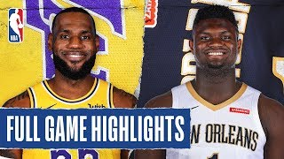 Gambar cover LAKERS at PELICANS | FULL GAME HIGHLIGHTS | March 1, 2020