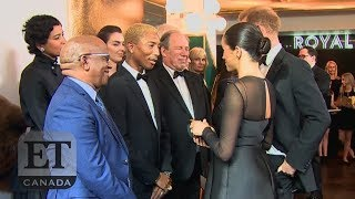 Meghan Markle Talks Tough Scrutiny With Pharrell At 'Lion King' Premiere