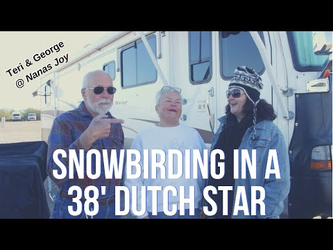 Snowbird Couple Travel in a Newmar Dutch Star Class A Motorhome