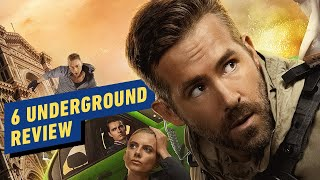 """IGN review's Netflix's new Michael Bay movie starring Ryan Reynolds, 6 Underground, saying """"with its unabashed use of indie-rock anthems that would be used ..."""