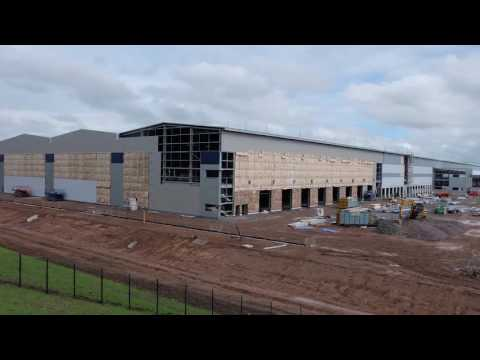 Watch the  MoD Donnington logistics hub go up