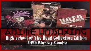 Anime Unboxing | High School of The Dead TV + OVA - DVD/Blu-ray Combo [Collector's Edition] 2014