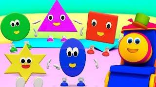 Bob o trem   cinco pequenas formas   formas canção   rima de berçário