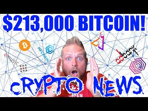Crypto News - 213K BITCOIN - EMUSIC ICO