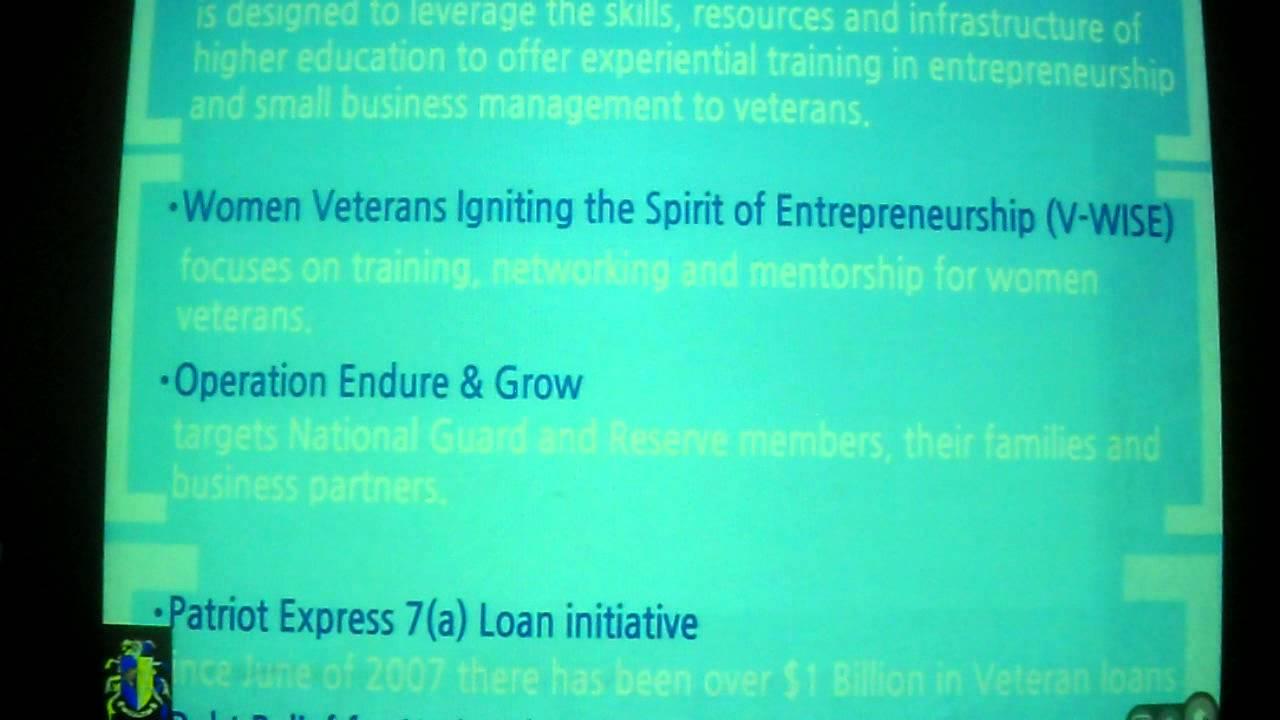 Disabled Veteran Business Grant AVI - YouTube