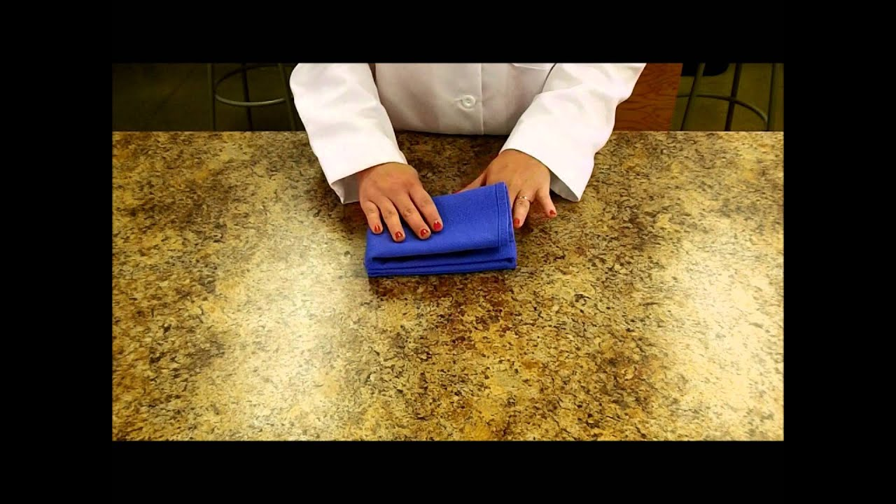Folding Surgery Towels - YouTube