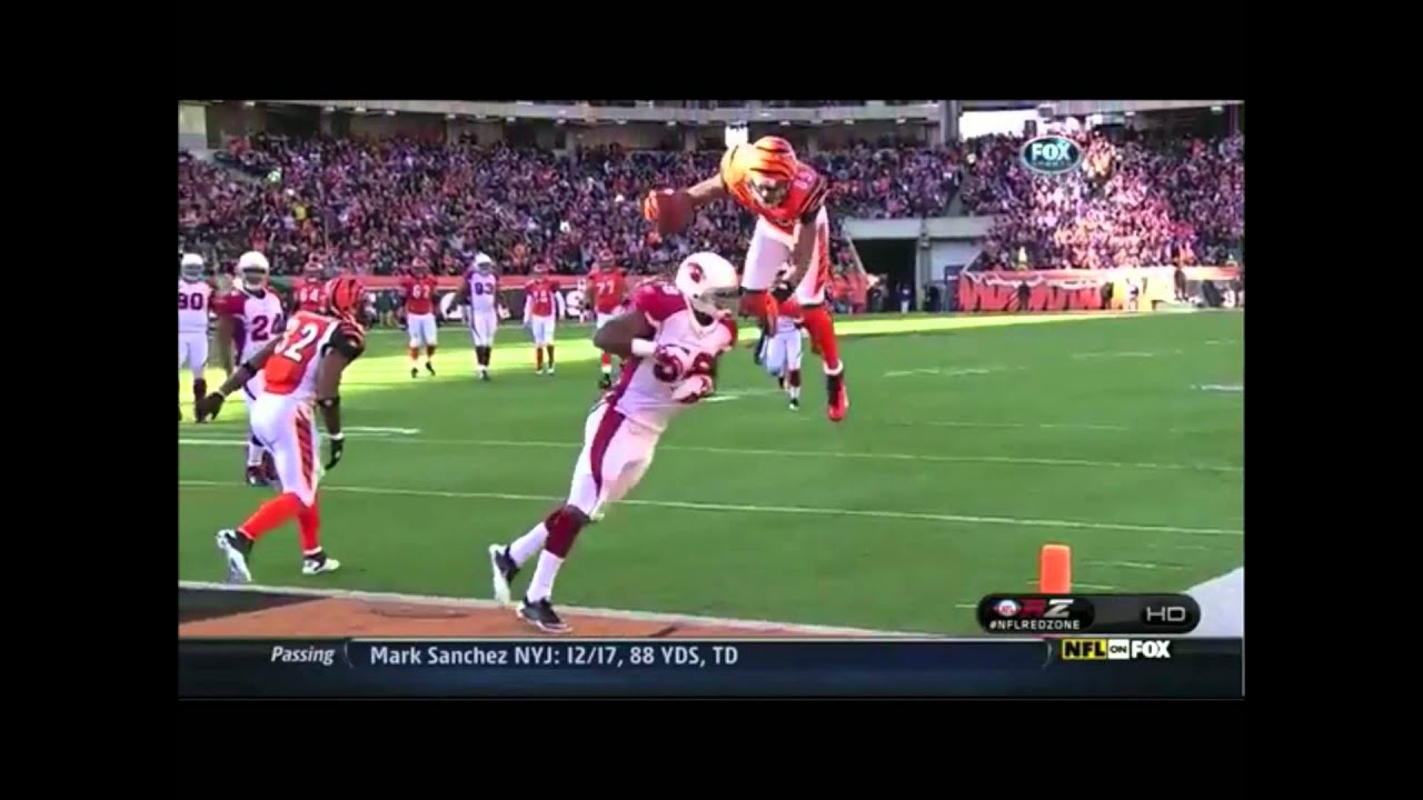 Jerome Simpson On Bengals Does Front Flip For Touchdown