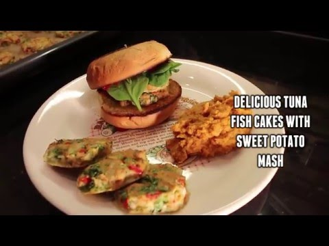 DELICIOUS TUNA FISH CAKES WITH SWEET POTATO MASH| QUICK & EASY |