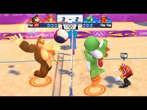 Mario & Sonic At The London 2012 Olympic Games Beach Volleyball #110 Daisy & Donkey Kong (Hard)
