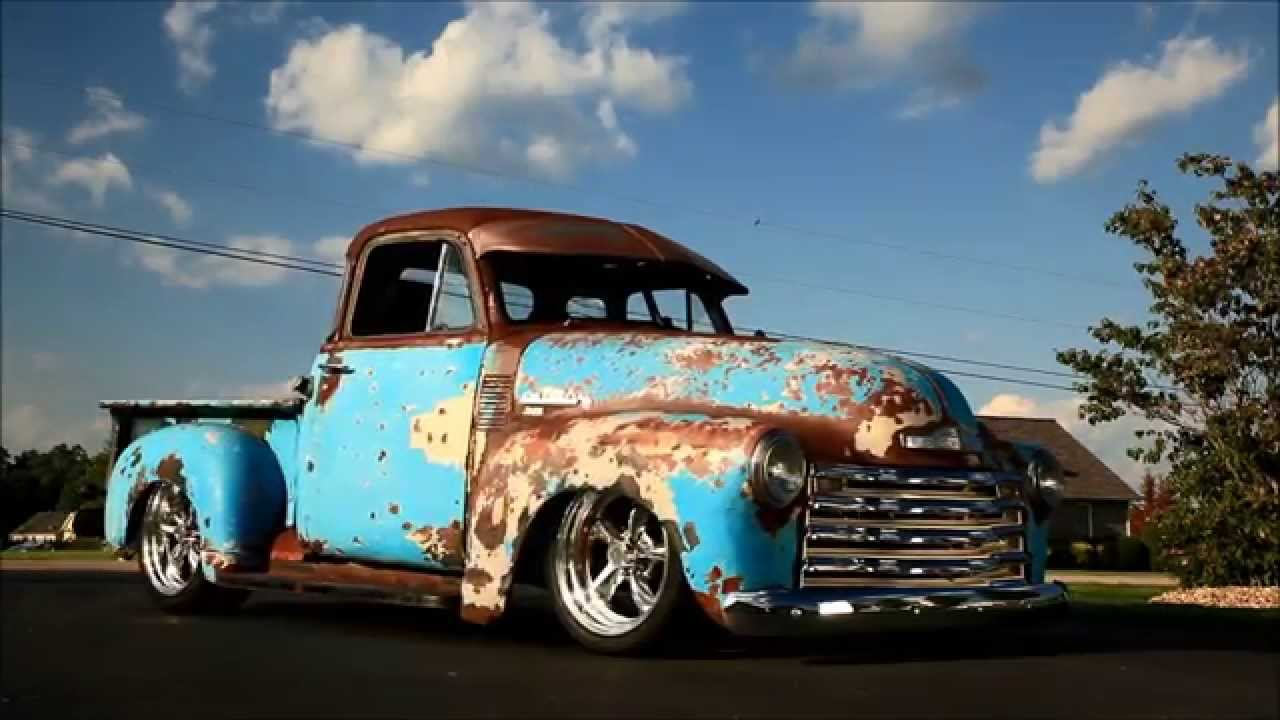 Crazy Horse 1951 Slammed Patina Resotmod 3100 Chevrolet Shop Truck 1952 Ford Hot Rod Pics For Sale Youtube