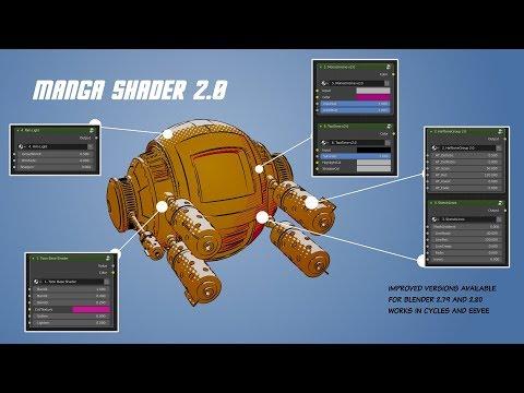 Manga Shader 2 0 for Blender