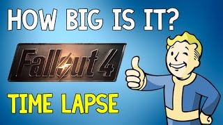 How Big is Fallout 4 | Time Lapse Walk Across The Wastelands