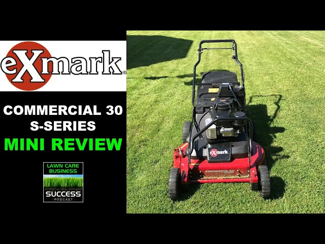 Exmark Commercial 30 S-Series Mini Review After 3 Weeks (2020 model)