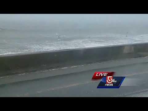 'A thousand little needles:' Seaspray, snow whipping Revere Beach