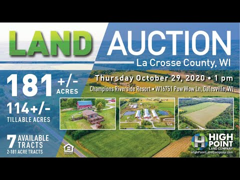 181+/- Acres La Crosse County, WI – AUCTION
