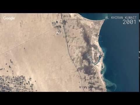 Google Timelapse: Al Khiran, Kuwait