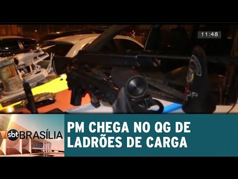 PM chega no QG de ladrões de carga | SBT Brasília 27/07/2018