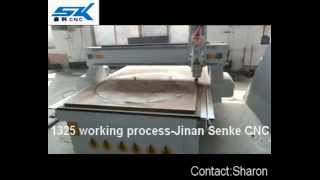 1325 Cnc Router Cutting 2cm Wood MDF Plywood Engraving On Wood.mp4