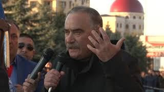 Руслан Аушев выступил на акции протеста в Магасе.