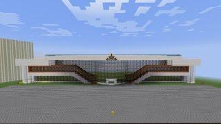 Строим вокзал города Минск в minecraft   Продолжение следует