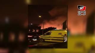 بالفيديو والصور.. حريق في سينما رادوبيس و«الصوت والضوء» بالهرم | المصري اليوم