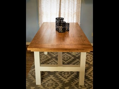 How to build a Farmhouse Table Complete Start to Finish // DIY