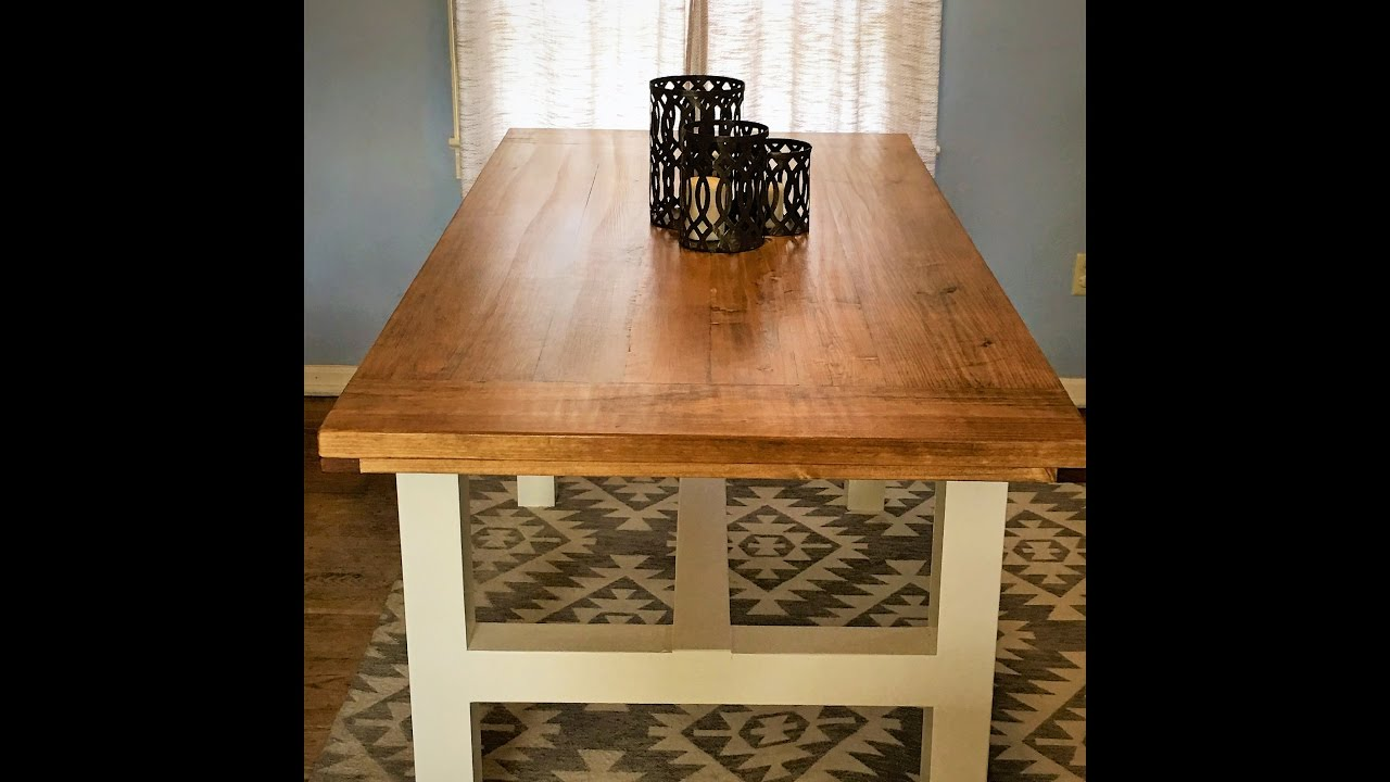 How To Build A Farmhouse Table Complete Start To Finish Diy Youtube