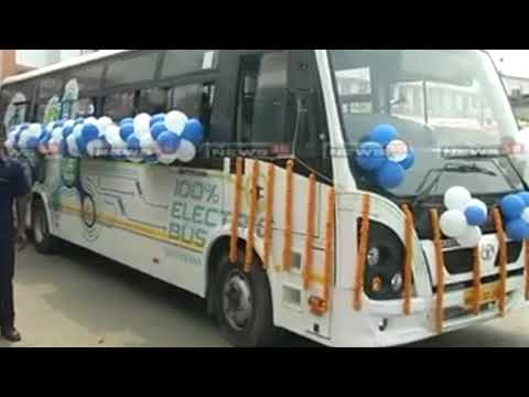 First Electric bus in Assam GUWAHATI northeast India. Free WiFi mobile charger point in bus