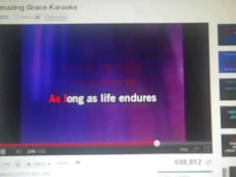 Libby Amazing Grace Karaoke