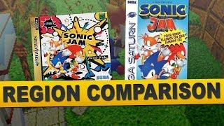 Sonic Jam for Sega Saturn (Region Comparison)