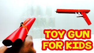 How to Make Easy Paper Toy Gun that Shoots Rubber Bands - Paper Toys Gun Tutorials 2018