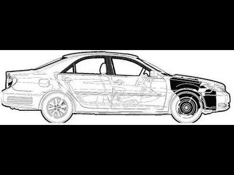 Как снять задний бампер на Toyota Camry
