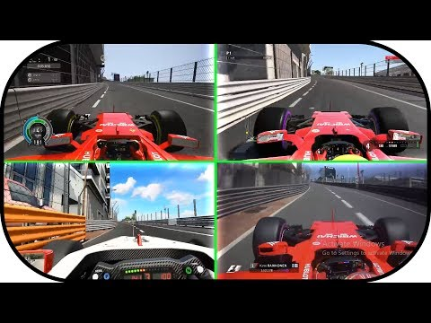 Project Cars 2 vs F1 2017 vs Assetto Corsa vs Real Life.  Monaco Grand Prix Hot lap Formula 1