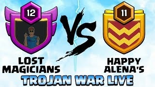 80 ATTACKS IN 5 MINS! LM Vs HA TROJAN/LAST MIN WAR LIVE WITH FUTURE T18 CLASH OF CLANS