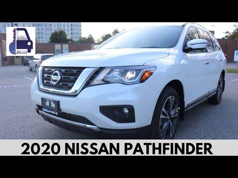 2020 Nissan Pathfinder Platinum 4x4 In Depth, Detailed Walk Around And Review