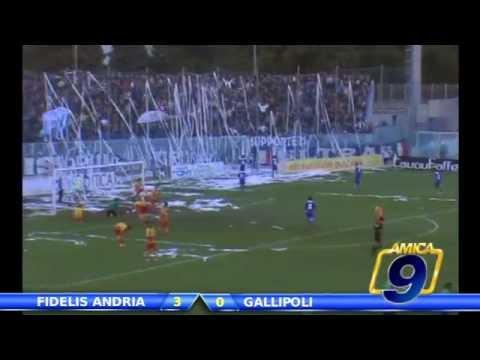Fidelis Andria - Gallipoli 3-0 | Goal e Interviste post gara | Serie D Gir. H