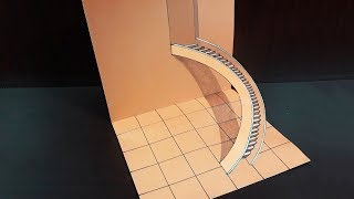 How To Draw A 3D Stair |  3D Stair Drawing | Easy 3D Drawings for Kids | |
