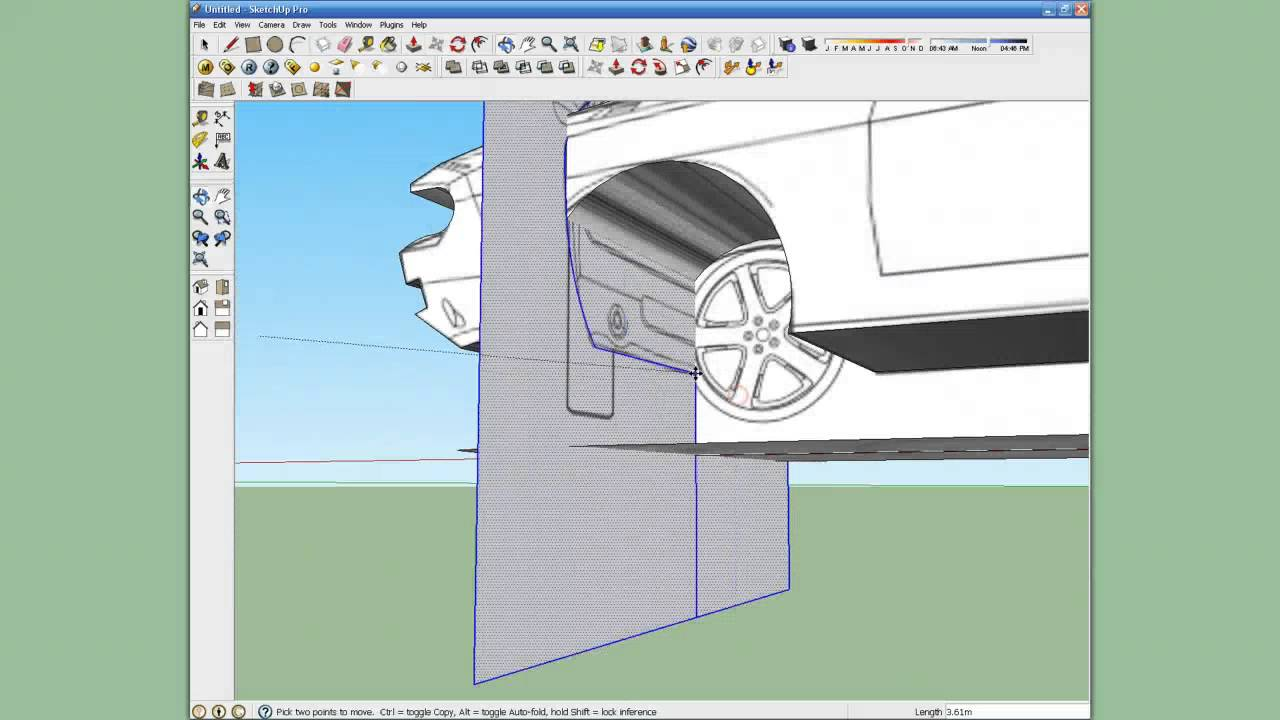 How To Make A Car In Sketchup Using Blueprints Youtube