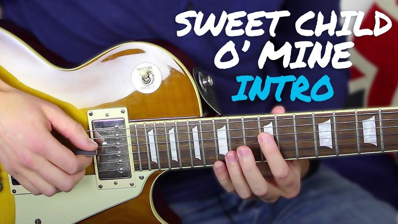 sweet child o mine intro guitar lesson tutorial guns n roses slash youtube. Black Bedroom Furniture Sets. Home Design Ideas