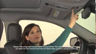 Programming the Universal Home Remote System – Sewell Buick GMC
