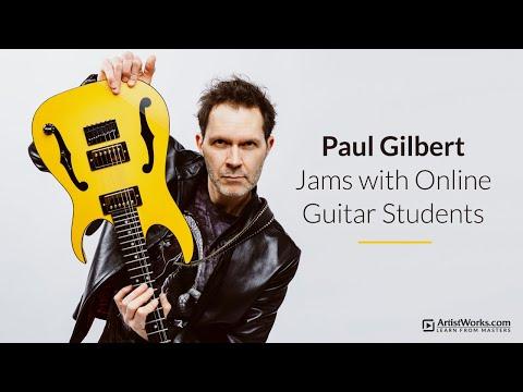 Paul Gilbert Guitar Lesson: Pentatonic Chicka   Doovi