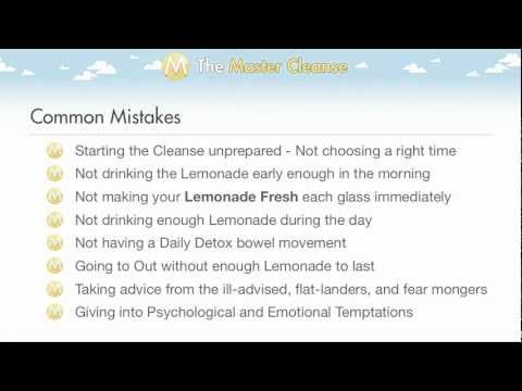 Master Cleanse Common Mistakes
